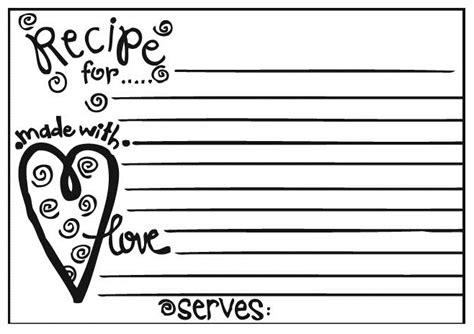 Free Black And White Recipe Card Template Word by Melonheadz July 2011