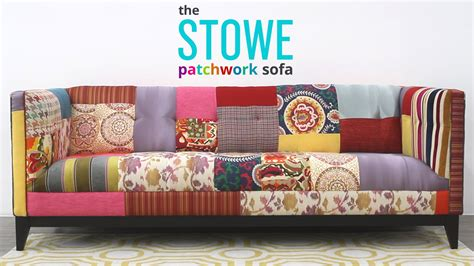 sofa patchwork stowe patchwork sofa