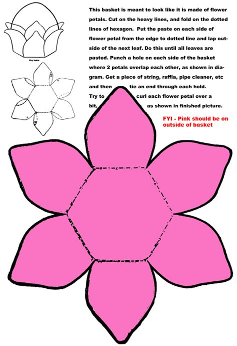 Flower Paper Craft Template - 1000 images about easter baskets on easter