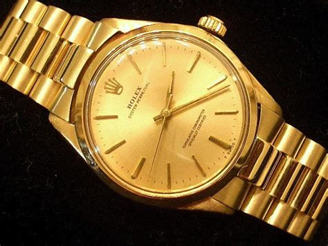 Rolex Oyster Perpetual Gold rolex mens gold oyster perpetual 1005 for sale sku