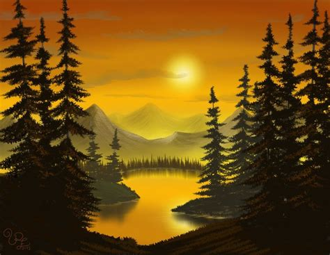 bob ross painting evergreen trees evergreen trees in autumn a tribute to bob ross by