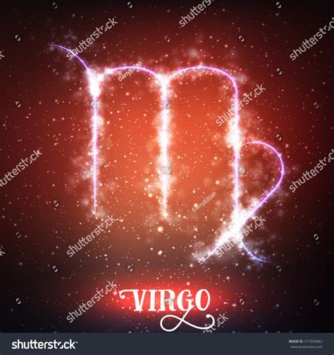 abstract color sign of the zodiac virgo stock photo vector abstract zodiac sign virgo on a dark red background