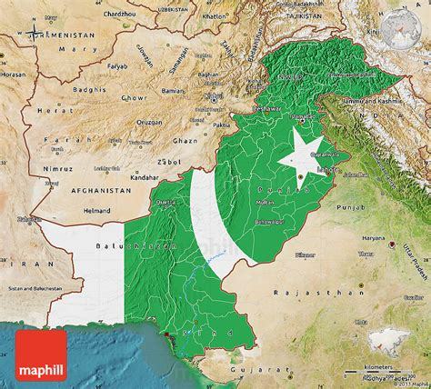 pakistan map satellite flag map of pakistan satellite outside