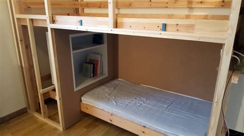 bunk bed hacks cocoon mydal bunk bed with reading nook ikea hackers