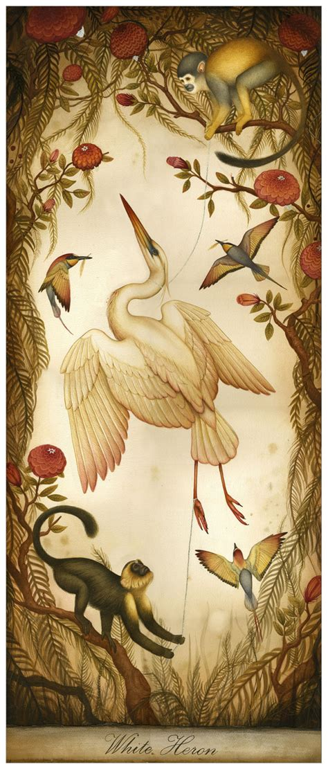 libro natural history painting white heron limited edition print natural by littlerobot