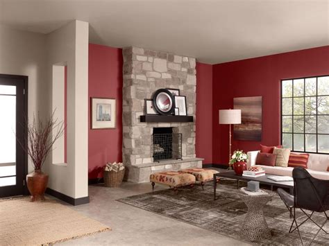 color palettes fireplace ideas living room red paint