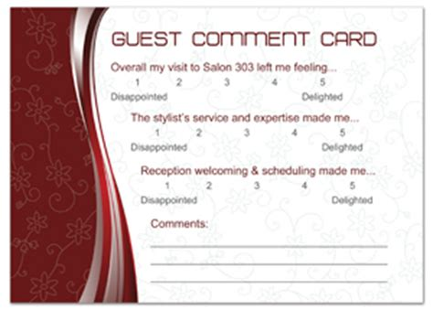 hotel comment card template customer comment postcard design template mpc 1036