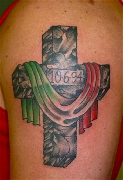 spanish flag tattoo designs cross with flag of italy tattoos
