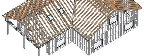 wood framing wall  wood framing roof  revit