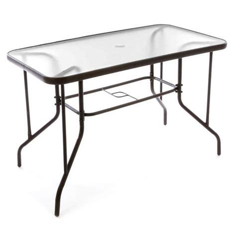 table bistro balcon plateau en verre trou parasol achat