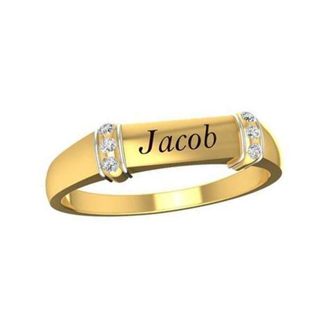 Pictures Of Gold Ring by Gold Engagement Rings With Names Www Pixshark
