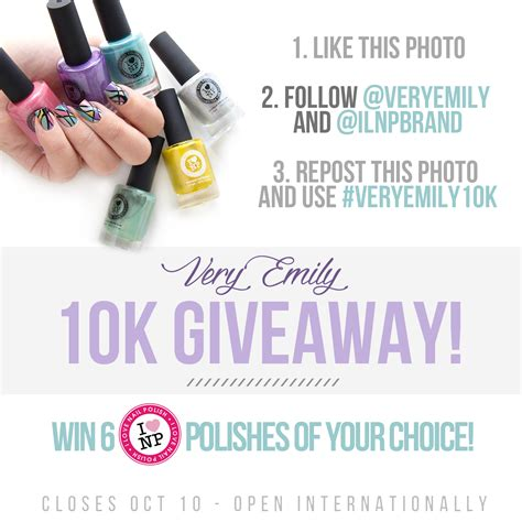 How To Find Giveaways On Facebook - ilnp nail art 10k instagram giveaway