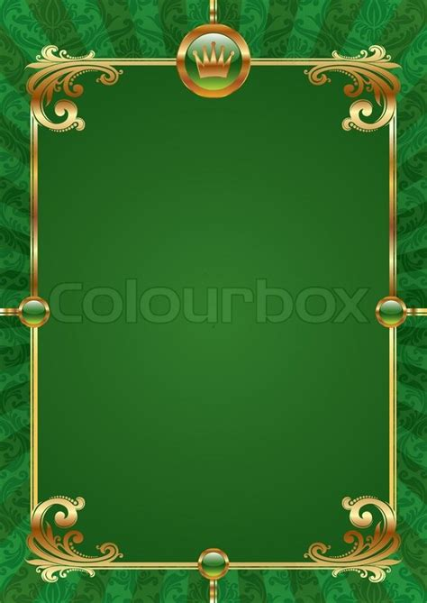 green vector background  golden stock vector colourbox
