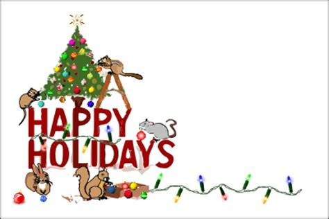 happy holidays from company card template greeting