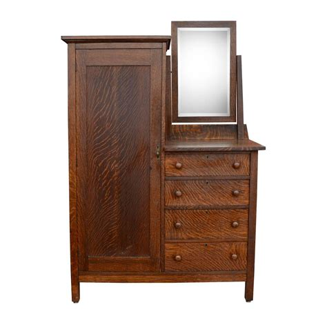 Wardrobe Dressers by Mission Style Wardrobe Dresser Circa 1914 At 1stdibs
