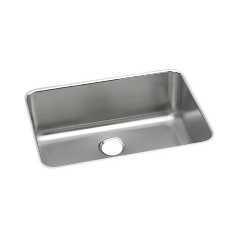 27 Kitchen Sink Elkay Lustertone Undermount Stainless Steel 27 In Single Basin Kitchen Sink Eluh241610 The
