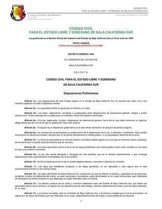 codigo civil secretara general del senado codigo civil para el estado libre y soberano de baja