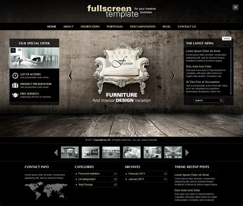 web layout full screen fullscreen wordpress theme