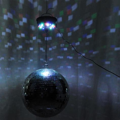 led mirror disco ball dance party light fixture 12 quot mirror disco ball dj stage party led light rotating