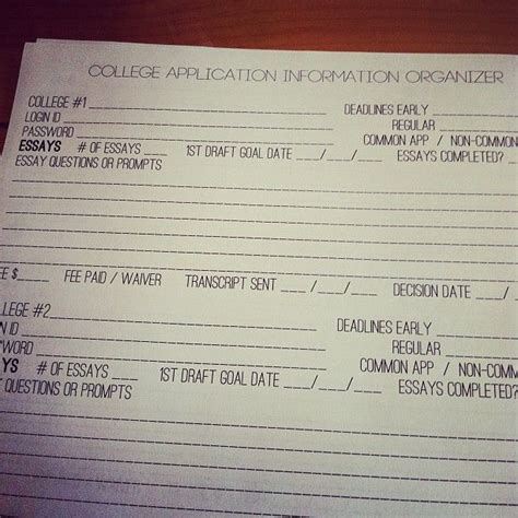 College Application Essay Deadlines Pin By Z Coursey On School Tips