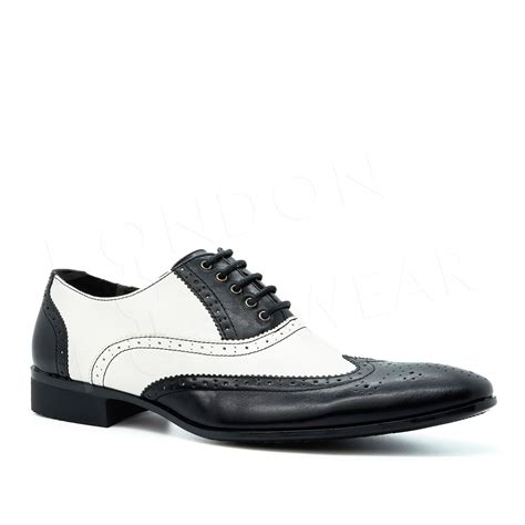 gangster shoes new mens two tone oxford brogues lace up formal gangster