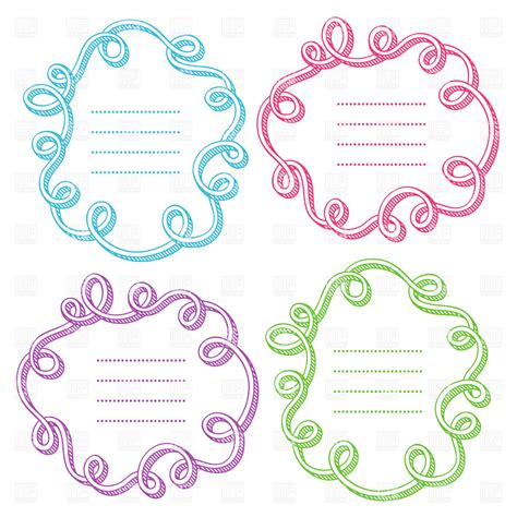 doodle free text option colorful doodle frames with place for text vector clipart