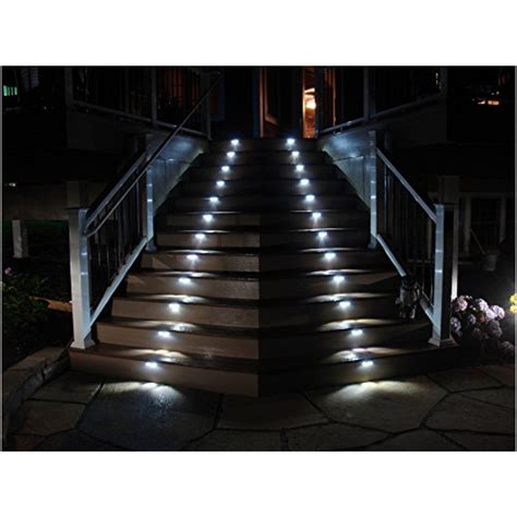 outdoor solar step lights hoont pack of 4 outdoor stainless steel led solar step light illuminates pricefalls