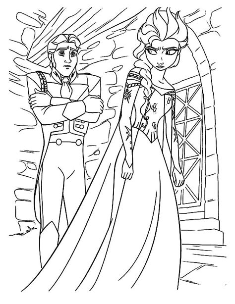 frozen coloring pages anna punches hans hans queen elsa is mad to prince coloring pages elsa