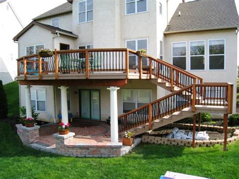 second story deck plans pictures multi level decks columbus columbus decks porches and