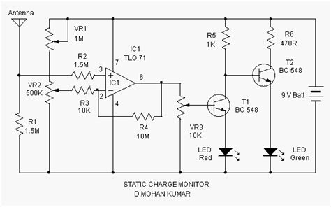 static charge monitor circuit