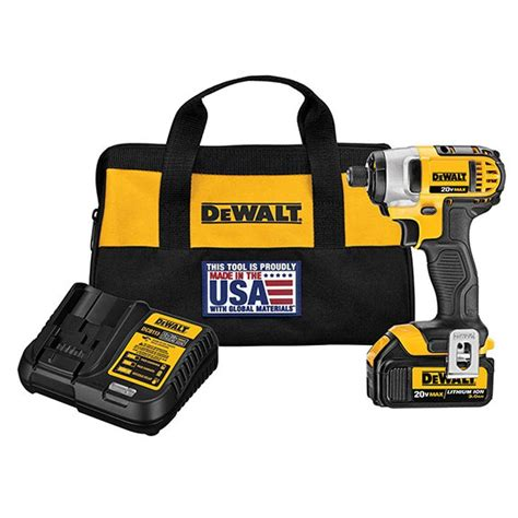 dewalt 20 volt max lithium ion cordless impact driver with