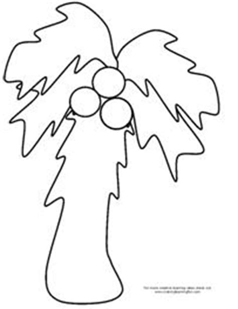 printable coconut tree template literacy ideas for chicka chicka