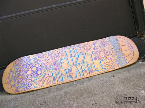 Free Skateboard Deck Giveaway - custom design hand painted skateboard deck by thefuzzypineapple on deviantart