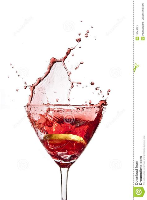 cocktail splash cocktail lemon splash stock photos image 24344793