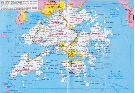maps  hong kong detailed map  hong kong  english