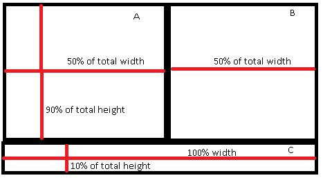 android layout percentage of screen size xml how to set both width and height of layouts as