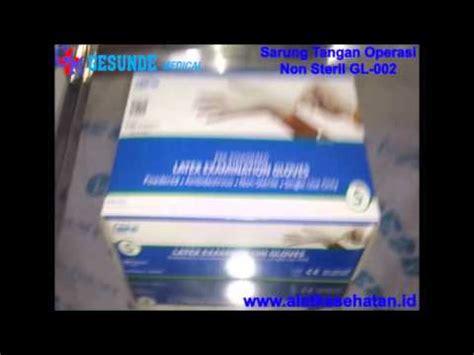 Sarung Tangan Operasi sarung tangan operasi non steril gl 002 www alatkesehatan id alat kesehatan murah lengkap