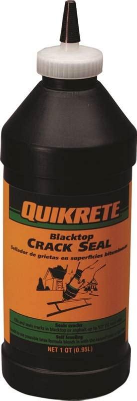 Quikrete 8640 Blacktop Crack Sealant, 1 qt, Bottle, Black, Liquid