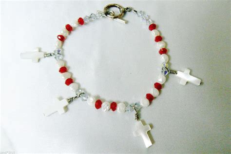 silver toggle clasp beaded pearl of pearl