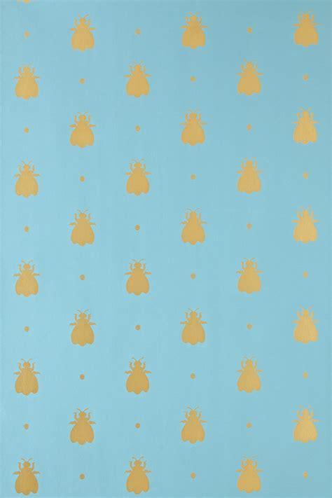 wallpaper with gold bees bumblebee bumble bee bp 555 farrow ball