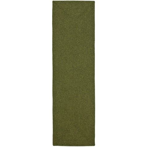 safavieh braided green 2 ft 3 in x 10 ft rug runner