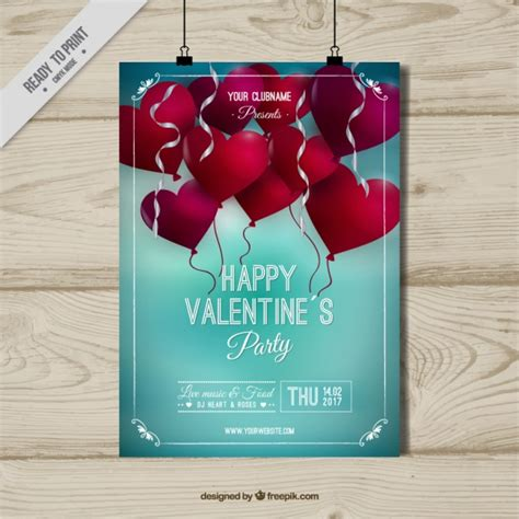 day poster template s day poster template with balloons vector