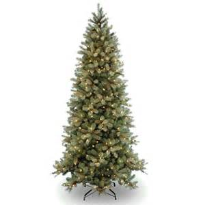 pre lit quot feel real quot slim artificial christmas tree buy now