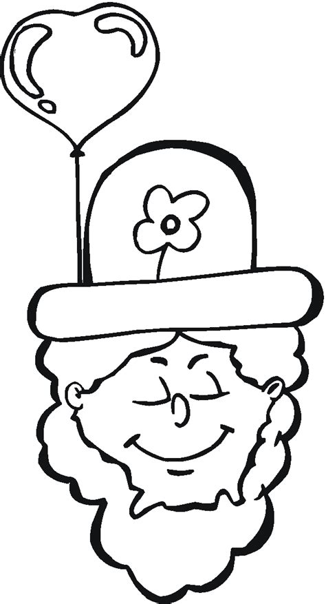 leprechaun hat coloring page st patrick leprechaun pictures coloring home