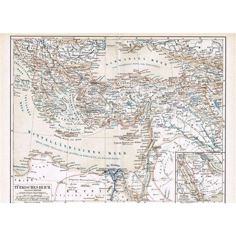 ottoman empire map 1900 ottoman empire turkey 3 old maps from 1900 from