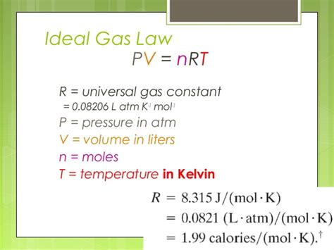 universal gas constant gas and condensed matter