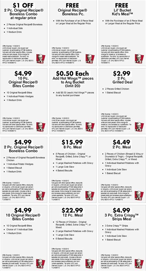 printable kfc coupons bonless print kfc chicken coupons