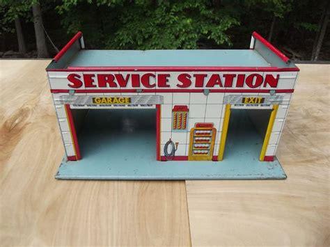 dollhouse x gasoline vintage tin superior service center gas station garage