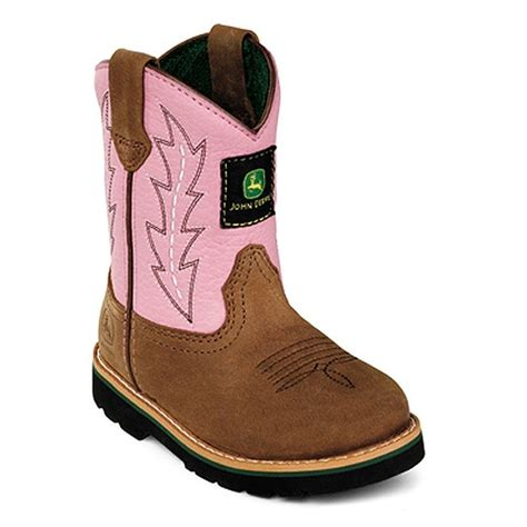 toddler boots deere pink camel leather western boots baby