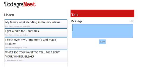 todaysmeet join room todaysmeet safe controlled chat room sessions with your students integration innovation
